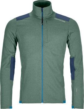 ORTOVOX Fleece Light Grid M férfi cipzáras felső Férfiak zöld