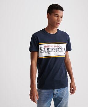 Superdry Core Logo Stripe férfi póló Férfiak kék