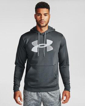 Under Armour Fleece® Big Logo férfi kapucnis felső Férfiak szürke