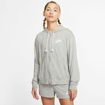 Nike Sportswear Gym Vintage női kapucnis dzseki Nők szürke
