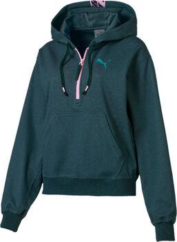Puma Feel It Cover up női kapucnis felső Nők zöld