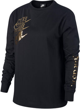 Nike Sportswear LS Shine női pulóver Nők fekete