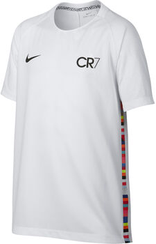 Nike CR7 Big Kids' SS Soccer gyerek póló Férfiak fehér
