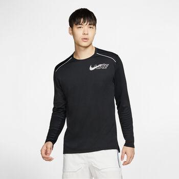 Nike M Nk Df Miler LS Flash hosszúujjú felső Férfiak fekete