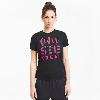 Puma  Performance Slogannői póló Nők fekete