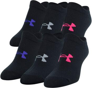 Under Armour Girl's Essential alacsony gyerek szárú zokni (6 pár/darab) fekete