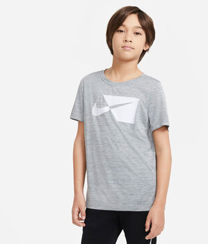 Nike Dri-FIT Breathe fiú póló szürke