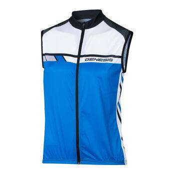 GENESIS Darmos ujjatlan férfi kerékpáros mez Férfiak kék