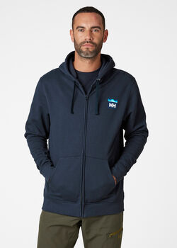 Helly Hansen Nord Graphic FZ férfi kapucnis felső Férfiak kék
