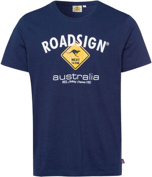 Roadsign Logo Raute férfi póló Férfiak kék