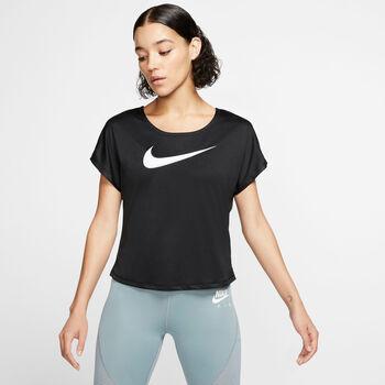 Nike W Nk Swoosh női futófelső Nők fekete