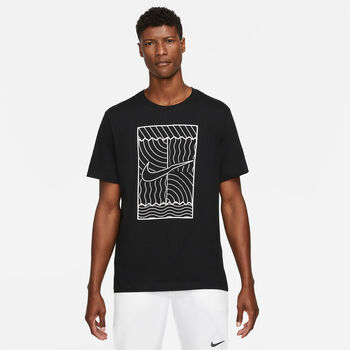 Nike Court férfi póló Férfiak fekete
