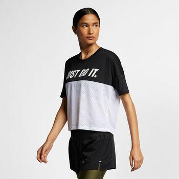 Nike W Tailwind Top SS női futópóló Nők fekete