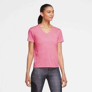 Nike Miler Running Top női futópóló Nők rózsaszín