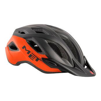 MET Crossover kerékpáros sisak Férfiak narancssárga