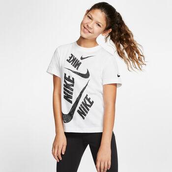 Nike Nsw Tee Dptl Swoosh lány póló fehér