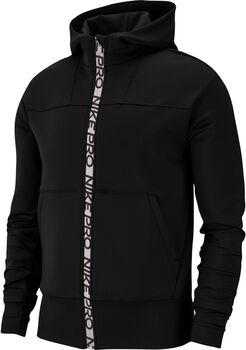 Nike Pro Full-Zip Fleece kapucnis felső Nők fekete