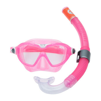 AQUALUNG Lung Reef Combo Jr gyerek búvárkészlet rózsaszín