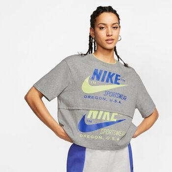 Nike W NSW ICNCLSH SS női póló Nők szürke