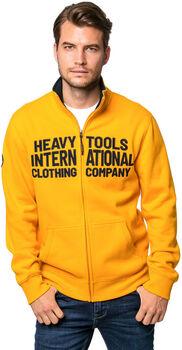 Heavy Tools Tadam férfi cipzáras felső Férfiak sárga