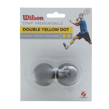 Wilson Staff squash labda 2 darabos sárga