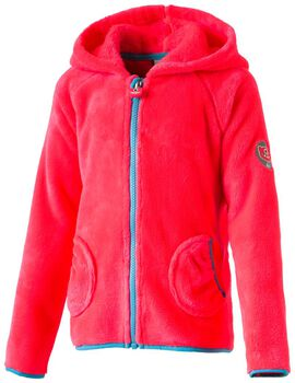 McKINLEY Trixie lány fleece kapucnis felső rózsaszín