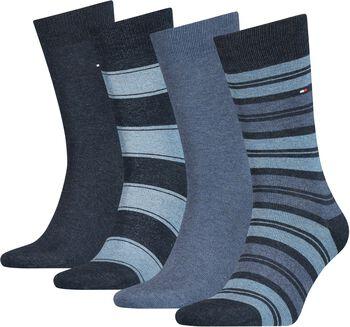 Tommy Jeans Tommy Hilfiger Stripe Sockférfi zokni, 4-es csomag Férfiak kék