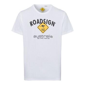ROADSIGN Basic Logo Tee Férfiak fehér