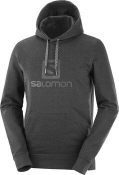 Salomon Logo Hoodie férfi kapucnis felső Férfiak fekete