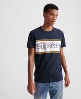 Core Logo Stripe férfi póló