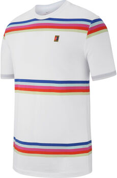 NikeCourtStriped Tennis T-Shirt fehér