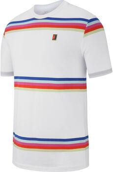 Nike Court Striped férfi teniszpóló Férfiak fehér