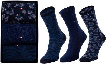 Tommy Jeans Wm Sock Gbox női zokni (3 pár) Nők kék