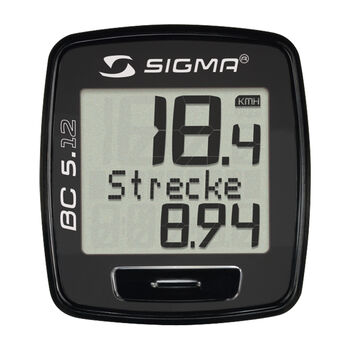 Sigma BC 5.12 kerékp.óra fekete