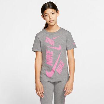 Nike Nsw Tee Dptl Swoosh lány póló fekete