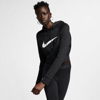 Nike Swoosh Cropped Hoodie női kapucnis felső Nők fekete