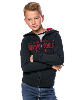 Heavy Tools Studio fiú kapucnis felső kék