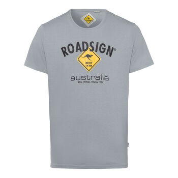 ROADSIGN Basic Logo Tee Férfiak szürke