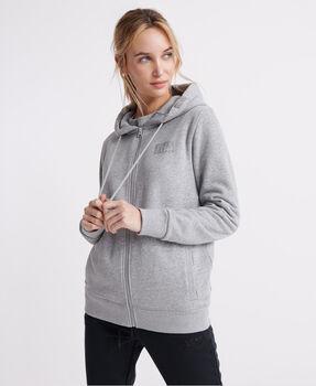 Superdry Core Sport Zip női kapucnis felső Nők szürke