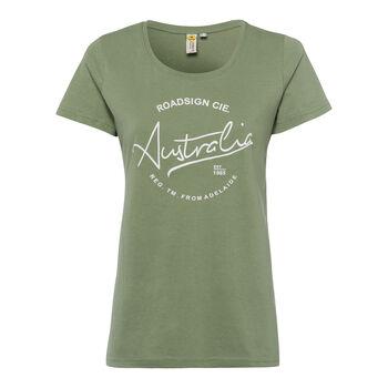 Roadsign Modern Basic női póló Nők zöld