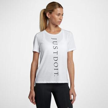 Nike Miler Top SS Jdi női futópóló Nők fehér