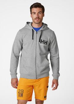 Helly Hansen HH Logo Full Zip férfi kapucnis felső Férfiak szürke
