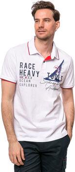 Heavy Tools Duzzon férfi galléros póló Férfiak fehér