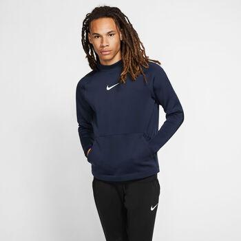 Nike Pro Hoodie Fleece férfi kapucnis felső Férfiak kék