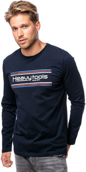 Heavy Tools Colage férfi hosszú ujjú póló Férfiak kék