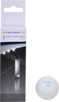 TECNOPRO 3 Star pingpong labda fehér