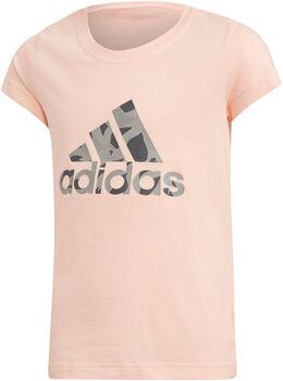 ADIDAS YG Logo Tee gyerek póló rózsaszín