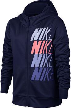 Nike  Nk Therma Hoodie Lány kék