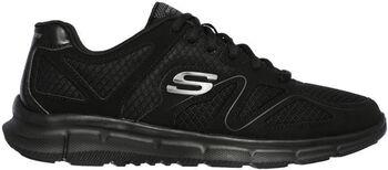 Skechers Satisfaction férfi fitneszcipő Férfiak fekete