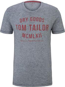 TOM TAILOR Fine Yd Print férfi póló Férfiak kék